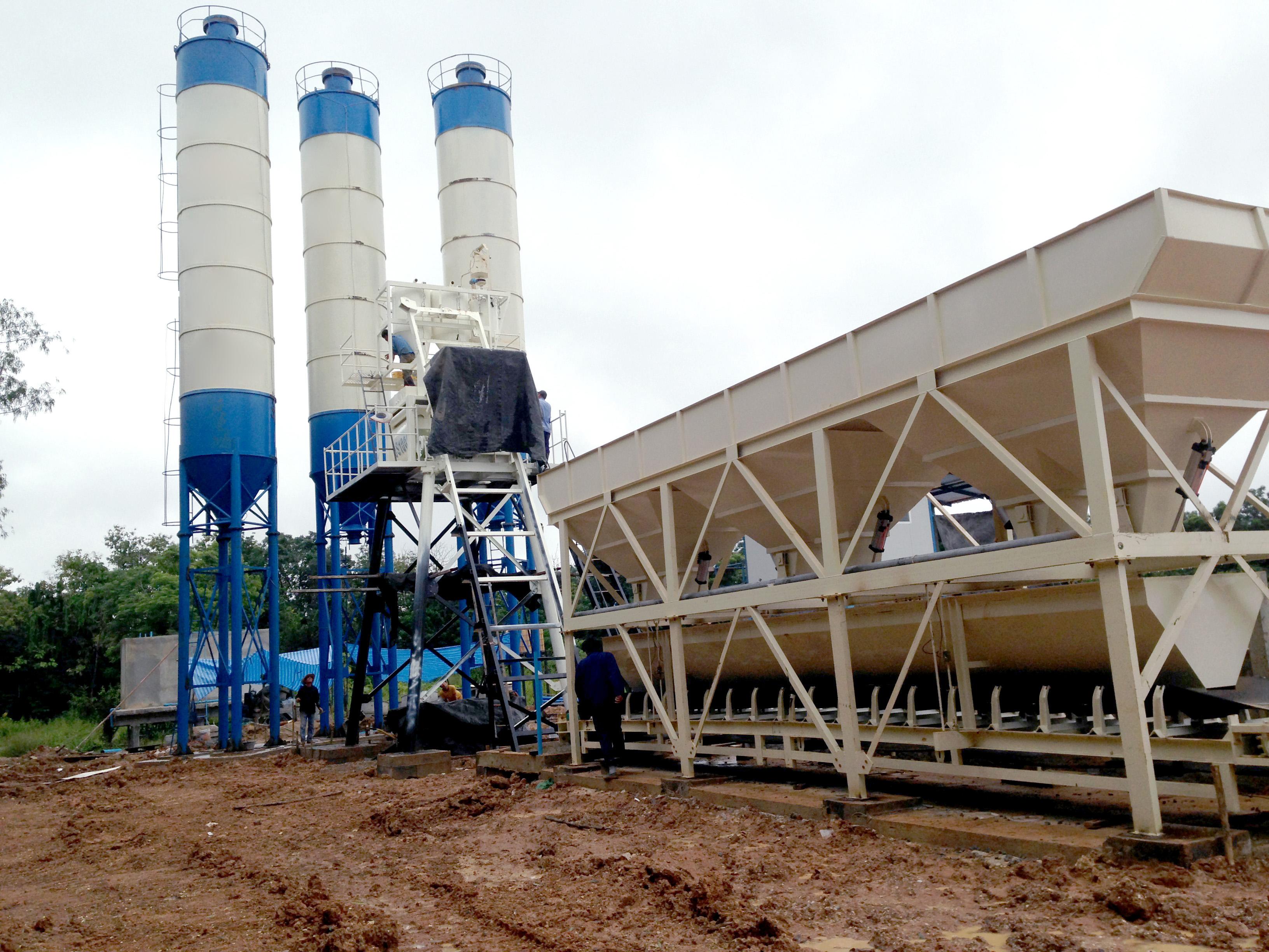 HZS50 ready mix concrete plant manufacturer